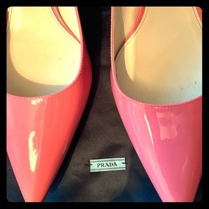 PRADA Pointed Toe 45mm Pink Leather Pump w dustbag